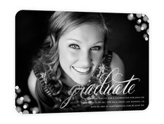 Simple graduation invitation that highlights your graduate!