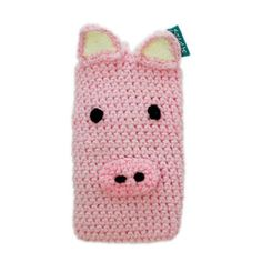 Qwiknit Pig Phone Sleeve, 12€, now featured on Fab.