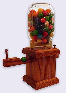 Mason jar gumball machine