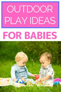 Outdoor Play Ideas for Babies: Discover the best outdoor play activities for babies! These baby learning activities will help encourage motor, language, and cognitive skills in your baby. Try these fun and easy infant activities today! Baby Learning Activities, Infant Activities, Summer Activities, Outdoor Activities, Outdoor Learning, Children Activities, Best Outdoor Toys, Outdoor Baby, Before Baby