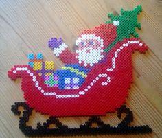 Santa Claus Christmas hama perler beads by Susanne Damgård Sørensen