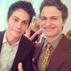Dylan O'Brien and Ansel Elgort hung out together. | 24 Celebrity Instagrams You Need To See This Week