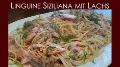 Linguine-Siziliana mit geplanktem Lachs - BBQ Chili, Linguine, Kraut, Bbq, Spaghetti, Pasta, Ethnic Recipes, Food, Barbecue Recipes