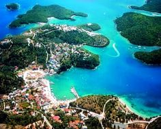 Sivota, Thesprotia (region in Epirus) Northwest Greece Oh The Places You'll Go, Places To Travel, Places To Visit, Places In Greece, Island 2, Villa, Greece Travel, Greek Islands, Vacation Spots