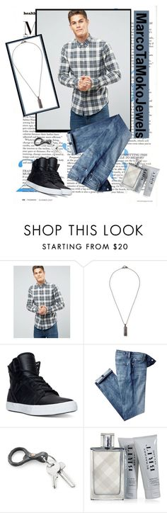 """Marcotamokojewels 9"" by barbara-996 ❤ liked on Polyvore featuring Abercrombie & Fitch, Marco Ta Moko, Supra, 7 For All Mankind, Burberry, men's fashion and menswear"