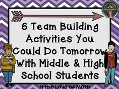 6 Team Building Activities That Can Be Done the First Week of School! {Appropriate for Middle and/or High School Students}