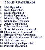 MAIN UPANISHADS.There are 108 Upanishads , the number of beads in a rudraksha mala .