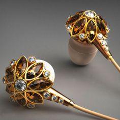 'Beauty Flower Earphones' by Hungarian designer Csaba Hegedus