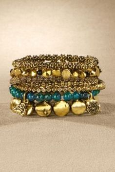 Good Karma Bracelets - Elephant Necklace, Buddha Necklace, Brass And Stone Bracelet | Soft Surroundings