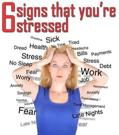 6 signs that you're stressed - Bella Ladies * Check this awesome product by going to the link at the image.