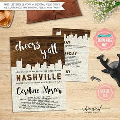 ** Please be sure to read ALL listing wording below **  Bachelorette Weekend Invite, Itinerary Nashville, Wood Grain (Printable File Only) Nashville Bachelorette, Bachelorette Weekend, Dark Wood  Get your favorite girls today and head to Music City for some bachelorette fun! Your Bachelorette Itinerary, Bachelorette Invitations, Bachelorette Weekend, Bachelorette Parties, Invite, Dark Wood, Wood Grain, Nashville, Showers