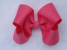 neon pink grosgrain bow by YeauxYeauxBows on Etsy, $8.00