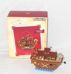Hallmark Noah's Ark Keepsake Christmas Ornament Features Movement 2004 $12.99