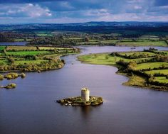 Lough oughter Cavan ireland Belfast, Irish Images, Castles In Ireland, Castle Scotland, Emerald Isle, Victoria, Ireland Travel, Northern Ireland, Aerial View