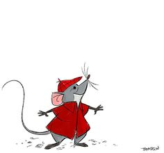 Roquefort. #disney #aristocats #mouse #roquefort #sthompsonart 🐭 Disney Artwork, Disney Fan Art, Disney Drawings, Cool Drawings, Disney And Dreamworks, Disney Pixar, Walt Disney, Chibi Disney, The Aristocats Characters