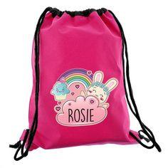 Personalised Pink Kit Bag - Bunny
