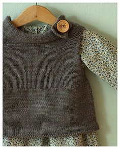 """Neighborly"" sweater pattern by Jennifer Casa  in Malabrigo Merino Worsted in color #606 Frost Gray"