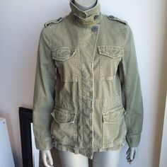 Madewell Outbound Jacket in army green Distressed army inspired jacket Madewell Jackets & Coats Utility Jackets