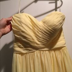 Yellow, Strapless, Size 2, Dress Yellow, Size 2, Strapless Dress, Never been worn, great for prom and special occasion JJHouse Dresses Prom