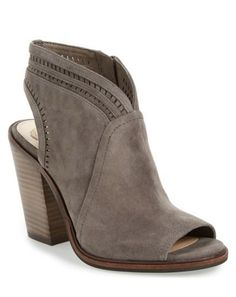 perforated open toe bootie
