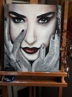 Amazing Demi Lovato Painting!!!!!!!  If someone bought this for me I would LOVE them FOREVER