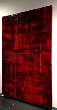 Original Abstract Painting by Luca Brandi Red Artwork, Red Wall Art, Large Artwork, Modern Artwork, Large Painting, Texture Painting, Large Wall Art, Sculpture Art, Abstract Art