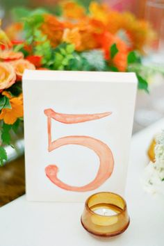 brides of adelaide magazine watercolour wedding bridal table number