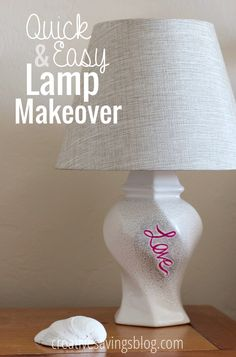 Strapped for cash, but still want a whole new look? This easy lamp makeover will turn your old lamp into a modern masterpiece!