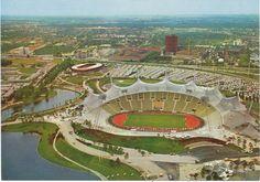 alte AK München 1972, Olympische Spiele, Olympiapark mit Olympiastadion | eBay