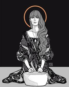 Sky Full of Song - Florence Welch Illustration by: monolimeart on IG link in source Art Et Illustration, Character Illustration, Character Inspiration, Character Art, Mujeres Tattoo, Illustrator, Florence Welch, Florence Art, Arte Pop