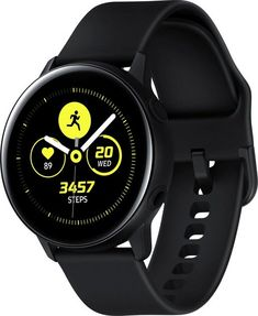 Samsung Galaxy Watch Active - Water Resistant, Wireless Charging, International Version (Android/iOS) - Handbags Haven Samsung Android Phones, Samsung Device, Samsung Mobile, Casio Edifice, Bluetooth, Fitbit, Bracelet Sport, Cute Kittens, La Galaxy