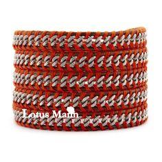 Steeliest lotusmann chain 5 wraps self-shade bracelet brown
