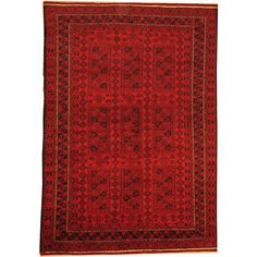 Herat Oriental Afghan Hand-knotted Semi-Antique Tribal Balouchi Red/ Navy Wool Rug (6'5 x 9'2) - Overstock™ Shopping - Big Discounts on Herat Oriental One of a Kind