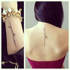 Mother- Daughter matching Tattoo... Simple, yet Beautiful!