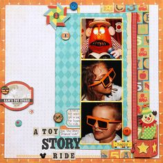 Toy Story Ride - Scrapbook.com - Don't forget to scrapbook individual rides within the Disney theme parks.