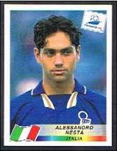 Alessandro Nesta of Italy. 1998 World Cup Finals card. Uefa Football, National Football Teams, Football Stickers, Football Cards, Good Soccer Players, Football Players, Alessandro Nesta, Fifa World Cup France, Real Madrid