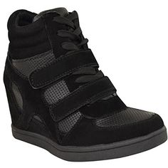 Fashion Thirsty Womens Hi Top Wedge Sneakers Trainers Spo…