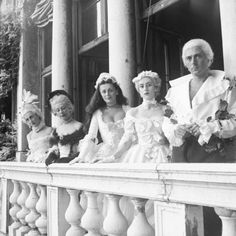 Madame Ralli,Countess Brandolini and others at the Beistegui Ball,Venice, 1951