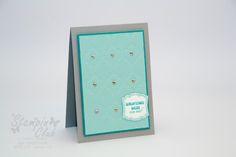 Stampin Up Card Karte Geburtstag Birthday Label Love Nett-iketten Artisan Label Punch Stanze Designeretikett Modern Mosaic Modernes Mosaik Textured Impressions Prägeform Embossing Folder from www.StampinClub.com