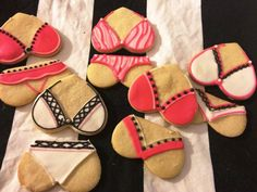 Bachelorette or Lingerie Shower cookies from AnnPotterBaking on Etsy.