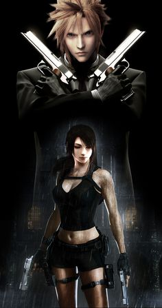 Cloud and Tifa by Vynthallas.deviantart.com on @deviantART