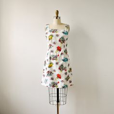 vintage 1960s mod artist painter dress by RockAndRollVintage, $160.00