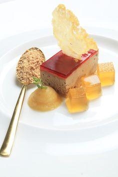 Chicken liver parfait with cherry glaze,apple puree n brandy jelly #Caperberry #Bangalore for @Gary Meadowcroft Mehigan @George Karabelas Calombaris