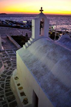 Sunset views - Mykonos, Greece #traveltoGReece