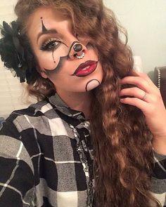Gangsta Clown  inspired by my favorite makeup artist @chrisspy  #KatEyezByKati #Chrisspy #GangsterClown #FreelanceMUA #SelfTaughtMUA  #HalloweenMakeup #Halloween2015