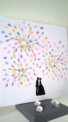 """arbre à empreintes """"feux d'artifice """" : Décorations murales par stefebricole"""