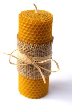 Hand-Rolled 100% natural beeswax candles by Candlesbeeswax on Etsy