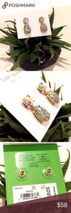Spotted while shopping on Poshmark: 🌷SALE🌷NWTs Kate Spade Opal Shine On Earrings! #poshmark #fashion #shopping #style #kate spade #Jewelry