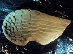 Concrete Garden Angel Wing Large And by MountainArtCasting on Etsy