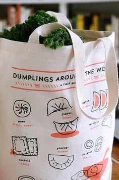 Dumplings Around the World tote bag | Plate & Pencil